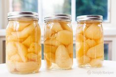 Preserved Pears ~ Bartlett pears, canned in a light simple syrup with star… Pear Recipes, Simply Recipes, Canning Tips, Canning Recipes, Pear Preserves, Canning Pears, Bartlett Pears, Poached Pears, Simple Syrup