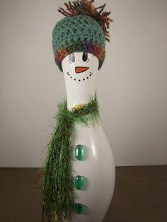 Snowman Bowling Pin