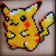 Pikachu Pokemon hama beads by mapinmapi