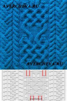 Узор 793 « Кельтский узор 2»   каталог вязаных спицами узоров
