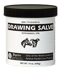 Black (Ichthammol) Drawing Salve is a thick, unctuous, smelly ointment. But guess what? None of that matters because this stuff is the topical gold star of the medicine chest. This ointment draws out bee stingers, splinters, reduces the pain & swelling of infected boils, etc. Also eats skin cancer! However, it can usually be found online or in pet supplies. Seriously, this stuff works!