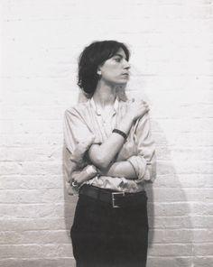 "jimlovesart:  "" Robert Mapplethorpe - Patti Smith, 1973.  """