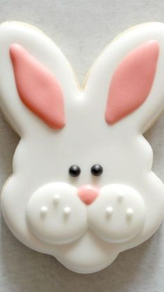 Sugarcraft rabbit faces - How To Make Bunny Face Cookies - inspiration for Easter baking and desserts