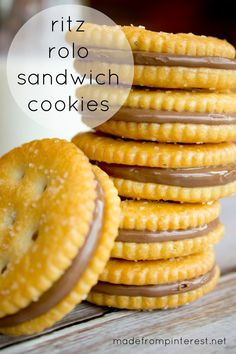 Ritz Rolo Sandwich Cookies.  Two ingredients.  Five minutes!