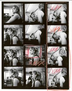 From the Madonna NYC 83 Exhibition by Richard Corman, this series of x open edition contact sheets are from the outtakes and the final selections of the book and exhibition Photography Sketchbook, Book Photography, Portrait Photography, Classic Photography, Madonna Photos, Madonna 80s, Mazzy Star, Contact Sheet, Shot In The Dark