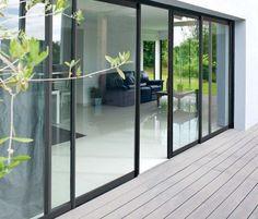 The Best Kitchen Design Patio Windows, Patio Doors, Windows And Doors, Open Plan Kitchen Living Room, Barn Renovation, Sliding Glass Door, Ideal Home, Home Deco, Exterior Design