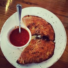 Mushroom calzone from Crust Pizzeria in Alpharetta is a must try! http://www.hospitalityhighway.com/