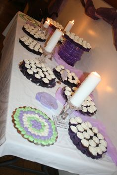 Cupcakes, Candles, Home Made Mints & Water Balls