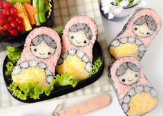 Nesting doll sushi roll