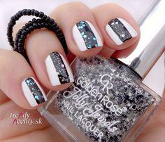 Jolly Lewels 123, gliter nail, nail design, nail art
