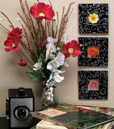 Black embossed metal frames would look great with modern decor!