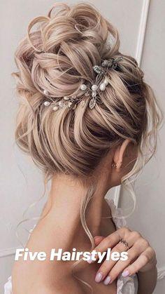 High Bun Hairstyles, Wedding Hairstyles For Long Hair, Elegant Hairstyles, Wedding Hair And Makeup, Vintage Hairstyles, Boho Updo Hairstyles, Hairstyles For Weddings, Rustic Wedding Hairstyles, Bun Hairstyles For Long Hair