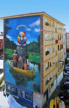 Welcome To SerzOkudaLand in Desvelarte, Santander, 2015 by Okuda.
