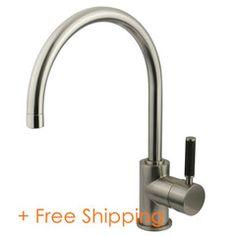 Kingston Brass Kaiser Single Handle Vessel Sink Faucet Satin Nickel FS8238DKL