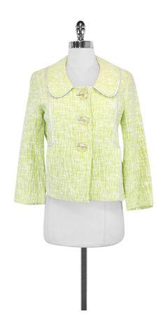 Cynthia Steffe Lime Textured Cotton Jacket