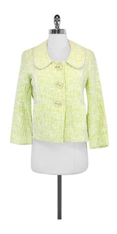Cynthia Steffe Lime Textured Cotton Jacket