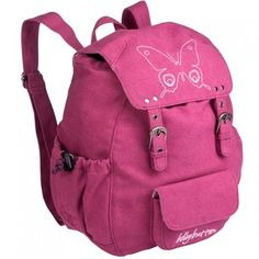 Lassig Girls Magenta Butterfly Mini School Backpack