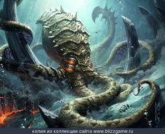 Meridian Seas Kraken Monster Concept Art, Fantasy Monster, Monster Art, Le Kraken, Kraken Art, Cool Monsters, Sea Monsters, Creature Concept Art, Creature Design