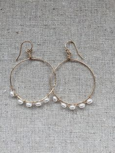 Goldfilled earrings with freshwater pearls