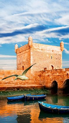 Beautiful view of blue fishing in Essaouira, Morocco.  20 photos that prove Morocco is a dream destination.