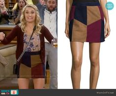 Gabi's patchwork skirt on Young and Hungry.  Outfit Details: https://wornontv.net/58639/ #YoungandHungry