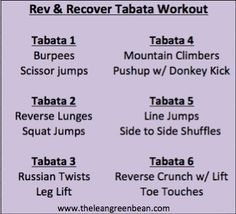 Rev  Recover Tabata Workout