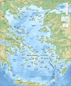 Aegean Sea Map