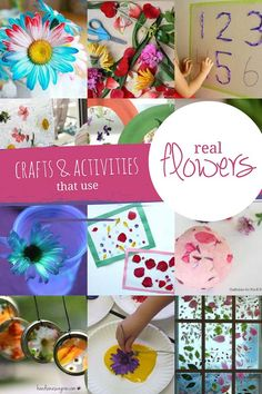 Make 22 real flower crafts and activities with your children via @handsonaswegrow