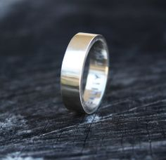 Mens Wedding Ring Unisex Ring Satin Finish Sterling by LolaAndCash, $74.00