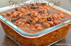 This ground beef is omitted in this chili recipe.  Instead it uses chicken sausage (al fresco), beans, tomatoes, chipotle chilies in adobe sauce, chicken broth and spices.  It is OFF THE HOOK!  Total calories go down from over 440 to just 220 per serving.  Low in fat, cholesterol and trans fats.  But high in fiber.  Just watch the sour cream and cheese and this is a healthy dinner or lunch.