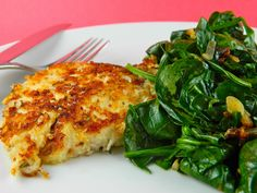 Almond Crusted Chicken - I didn't include the greens but the chicken was SO easy, super crunchy and delicious!  Good!