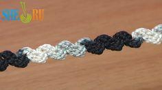 *Crochet Simple Zig-Zag Cord Tutorial in docs. Zig Zag Crochet, Crochet I Cord, Single Crochet Stitch, Crochet Motif, Crochet Stitches, Crochet Patterns, Crochet Lace, Doilies Crochet, Crochet Edgings