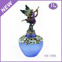 Groothandel lege blauwe engelen hx-7495 twaalf luxe kristal parfum fles met verstuiver