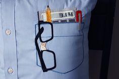 Nerd Pocket Pillow. $40.00, via Etsy.