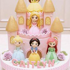 Princess Theme Birthday, Baby Birthday Cakes, Baby Girl Cakes, Birthday Love, Princess Cupcake Toppers, Princess Cupcakes, My Little Pony Cake, Mini Tortillas, Barbie Cake