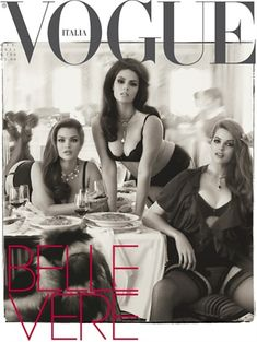 Vogue Plus Cover -- but why aren't they actually wearing CLOTHES? Could it be because no one is REALLY making awesome plus fashion?