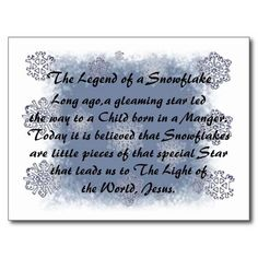 The Legend of the Snowflake Postcard Christmas Verses, 12 Days Of Christmas, Christmas Greeting Cards, Christmas Balls, Christmas Crafts, Christmas Decorations, Christmas Tea, Christmas Goodies, Christmas Candy