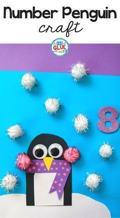 Penguin Number Counting Craft and Activity - this is a perfect addition for your pre-k, preschool, or kindergarten students.
