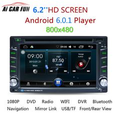 """AR6002B 6.2"""" Car DVD Player 2 Din Touch Screen Stereo Radio Audio MP3 Music Player with GPS Navigation Steering Wheel Control #Affiliate"""