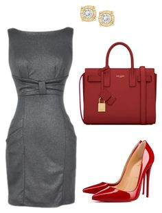 """""""Office"""" by taniaisabel-1 on Polyvore featuring Yves Saint Laurent and Christian Louboutin"""