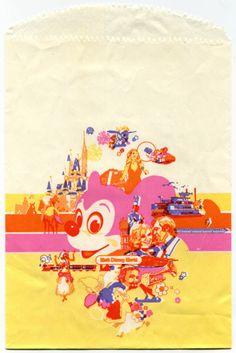 1980's Disneyworld park paper shopping bag :: via flickr.com