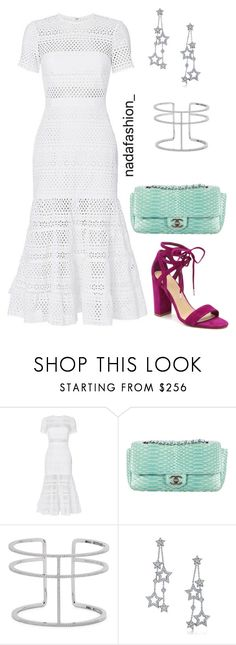 """Untitled #182"" by nada-fashion ❤ liked on Polyvore featuring self-portrait, Chanel, APM Monaco and Tiffany & Co."