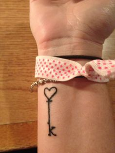 """My key tattoo, what if the bottom were an 'L"""" and an """"M""""? 2 keys to my heart?"""