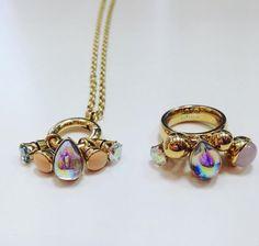 MelanO Twisted ring Tess en ketting Tasha. Beauty! #MelanO #Twisted #ring #ketting #collier #bonibunita #Einighausen