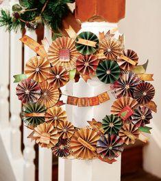 Guirlanda de Natal com scrap - DIY, Christmas, Craft