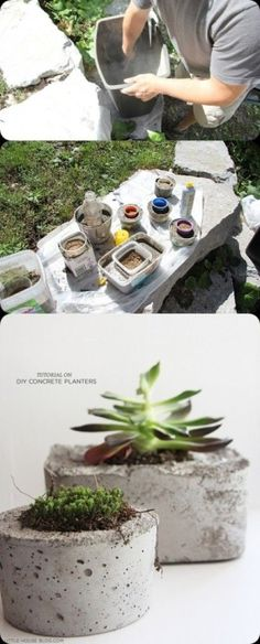 DIY : Make a Pot Planter from Concrete by kubilay