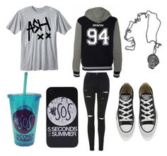 """""""Ashton Irwin inspired Outfit"""" by scrapbook76 on Polyvore featuring Topshop and Converse"""