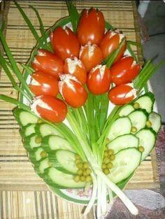 """Einladender Gemüse""""Blumenstrauß """" die nächste Party steigt"""