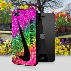 Nike Just Do It Sparkle Glitter design for iPhone 5 Black Case Oooooooh, I love this!