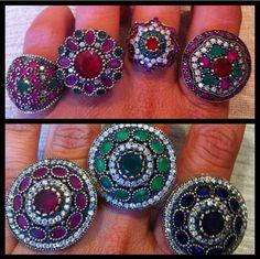 Subalk ~ Instagram Turkish Jewelry, Crochet Earrings, Gems, Jewellery, Pearls, Instagram, Black, Indian, Ring